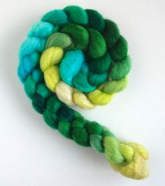 BFL Wool Roving (Top) - Handpainted Spinning or Felting Fiber, Daffodils 2