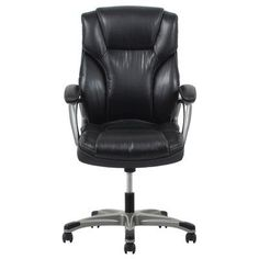 high back black leather executive office chair with triple paddle control. high quality ergonomic swivel brown leather office chairs / modern conference meeting room chair executive offic\u2026 back black with triple paddle control a