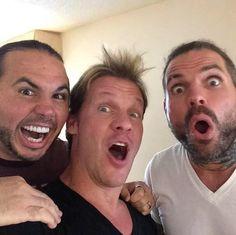 Matt Hardy, Chris Jericho and Jeff Hardy.
