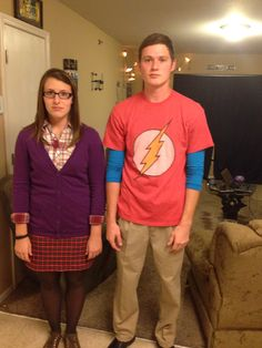 Sheldon and Amy from Big Bang Theory - cheap, last minute couple costume DIY Halloween