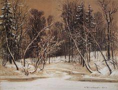 """И. И. Шишкин """"Лес зимой"""", 1884, ГРМ"""