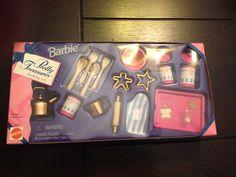 BARBIIE 1996 PRETTY TREASURES BAKING SET NEW IN BOX
