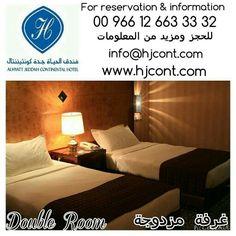 "Be our guest on Alhyatt #Jeddah Continental #Hotel  Double Room with an area of 35 square meters, features a 42"" flat-screen TV.  #SaudiArabia #SaudiTourism #ksatourism  كن ضيفاً على #فندق الحياة #جدة كونتيننتال  غرفة مزدوجة بمساحة 35 متر مربع  #السعودية #السياحة_السعودية"