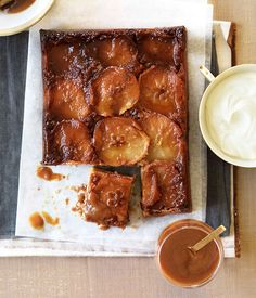 Butterscotch apple spice cake