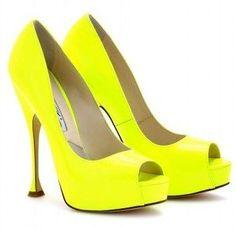 8d5b0498d1b77 Fluo yellow shoes Neon Shoes