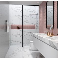 15 design ideas for chic bathroom tiles Bathroom Tile Designs, Trends & Ideas - Marble Bathroom Dreams Luxury Bathroom, Bathroom Interior Design, Minimalist Bathroom Design, Chic Bathrooms, Small Bathroom, Interior, Bathroom Tile Designs, Bathroom Decor, Trendy Bathroom