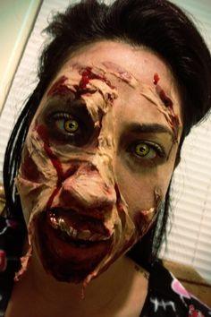 Halloween spirit! Zombie makeup