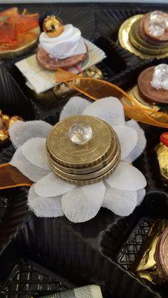 Geldpraninen - für süße Naschkatzen ☺ Table Decorations, Desserts, Food, Home Decor, Diy Presents, Craft, Homemade Home Decor, Meal, Deserts