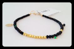 Vermeil And Black Crystal Bracelet. This listing is for by panjj, $30.00