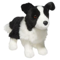 """10"""" Zippy the stuffed Border Collie Dog is just adorable! Realistic black and white coloring this plush puppy is ultra soft for cuddles and the perfect size for carry along play! - Ages: 24 Months & U"""