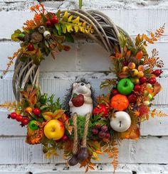 Wreaths And Garlands, Autumn Wreaths, Fall Diy, Fall Decor, Seasons, Halloween, Handmade, Home Decor, Ideas