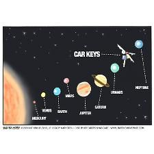 Car Keys Lost In Space #space, #keys, #humor, #planets #lostinspace #spacesports #ios #android
