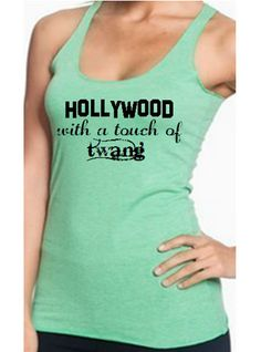 Hollywood with a touch of twang Jason Aldean Tri-Blend Racerback Tank Country Tank Workout Tank by SouthernCharme