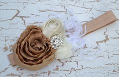 Couture Vintage Isnpired Rosette Flower Headband