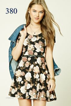 Style Deals - A stretch knit mini dress featuring an allover floral print 3bcfa8134