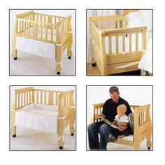 Arms Reach-SLEIGH Bedside CoSleeper - Natural
