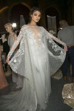 Daniela Braga backstage at Zuhair Murad Spring/Summer Couture 2013