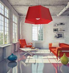 Hanglamp Monza Metaal Rood Corner Desk, Lighting, Inspiration, Furniture, Home Decor, Corner Table, Biblical Inspiration, Decoration Home, Room Decor