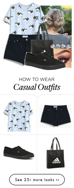 """""""Casual"""" by klfkallio on Polyvore featuring MANGO, adidas and Vans"""