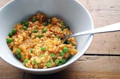 Belleau Kitchen: hot tomato jam and pea risotto