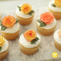 Cupcake Decorating Tips, Cake Decorating Piping, Creative Cake Decorating, Creative Cakes, Cookie Decorating, Decorating Ideas, Decor Ideas, Fruity Cupcakes, Autumn Cupcakes