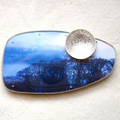 Winter Song brooch with silver moon by Cari-Jane Hakes hybrid handmade from 'The…
