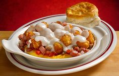 Huddle House Tater Tot Covered Omelets