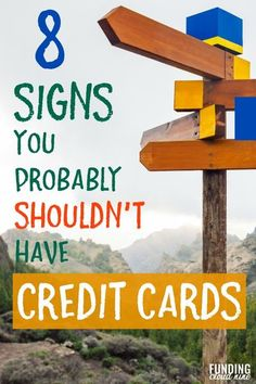 Wondering if you should get or keep your credit cards? Worried about credit card debt? See if you have any of these signs that indicate you probably shouldn't be using credit cards. Money Tips, Money Saving Tips, Credit Score, Credit Cards, 8th Sign, Travel Rewards, Finance Tips, Money Management, Personal Finance