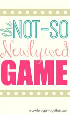 The Not-So Newlywed Game from Let's Get Together - #familyreunion #groupgame