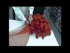 Wide Mesh Ribbon Wreath - Trees n Trends - YouTube