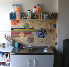 My studio - mosaic backsplash | Flickr - Photo Sharing!