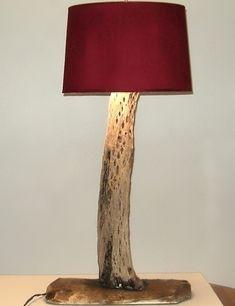 Floor antique lamp metal and wood candelabra