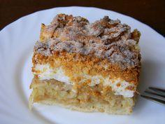 Przedstawiam przepis na przepyszne ciasto - jabłecznik. Przepis pochodzi z zapisków mojej mamy, z PRL'u, gdy piekło się głównie na pszen...