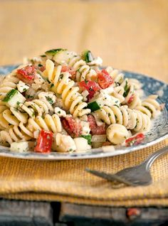Greek Pasta Salad... yum.