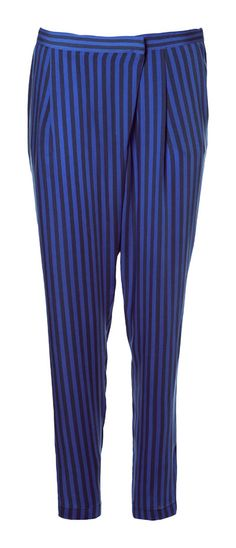 STRIPED CROSSOVER TROUSERS