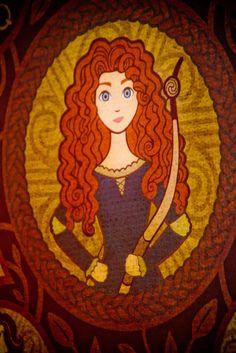 Merida on the Tapestry in Disney World