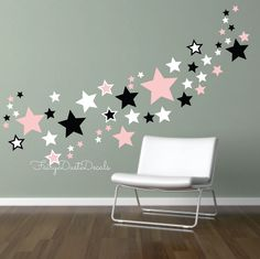 Stars Wall Decals - set of 100 by FairyDustDecals on Etsy https://www.etsy.com/listing/57474607/stars-wall-decals-set-of-100