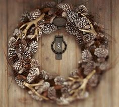 Pine cone and antlers!