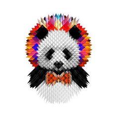 Tattify Geometric Panda Temporary Tattoo - Panda Bear (Set of 2)