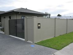 Solid 1.8mtr high wall with slat gates- Privacy Wall