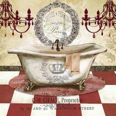 Red French Bath I tre sorelle