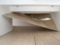 """Sarah Oppenheimer """"MF-142"""" Annely Juda Fine Art. London. 2009."""