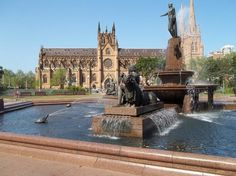 St. Mary's Cathedral: fountains in front