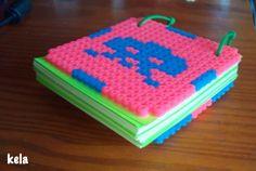 hamma beads, pixel art, posit, cuaderno, book,