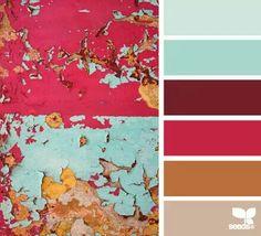 Eroded Hues by Design Seeds Colour Pallette, Color Palate, Colour Schemes, Color Combos, Color Patterns, Design Seeds, Colour Board, Color Stories, Color Swatches