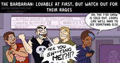 Your Friends As RPG Classes #collegehumor #lol College Humor, Barbarian, Life Is Beautiful, Dungeons And Dragons, I Laughed, Mythology, Dorkly, It Cast, How To Plan