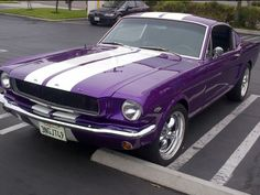 "From ""Purple Everything"". A purple Mustang! Purple Love, All Things Purple, Shades Of Purple, Deep Purple, Pink Purple, Purple Cars, Purple Stuff, My Dream Car, Dream Cars"