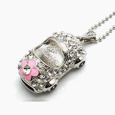 High Quality Crystal Jewelry Mini USB 128GB Flash Pen Drive 64GB Memory Stick 512GB Pendrive/Thumb Drive/Car Drives Driver 2.0