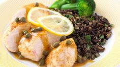 Sautéed Lemon Chicken with Capers, Wild Rice, and Broccoli. Ready in 20  minutes. Only 6 Ingredients. Total cost: $6.97