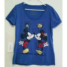 "Disney Mickey & Minnie tee Mickey & Minnie *True Love* tee - Brand: DISNEY. Size: XL (B:18.5"" L:26.5"") - #721 Disney Tops"